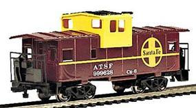 Bachmann 36 Wide Vision Caboose Santa Fe #999628 HO Scale Model Train Freight Car #17702