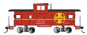 Bachmann HO 36 Wide Vision Caboose, SF/Red
