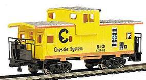 36' Wide Vision Caboose Chessie HO Scale Model Train Freight Car #17709