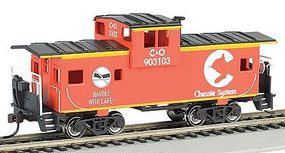 Bachmann 36 Wide Vision Caboose Chessie Orange HO Scale Model Train Freight Car #17726