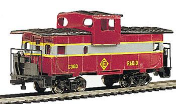 Bachmann 36' Wide Vision Caboose Erie Lackawanna -- HO Scale Model Train Freight Car -- #17728