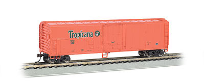 Bachmann Tropicana Orange 50' Steel Reefer (#250) -- HO Scale Model Train Freight Car -- #17946