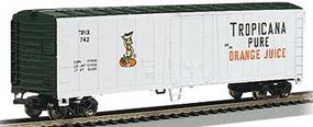 50' Steel Reefer Tropicana HO Scale Model Train Freight Car #17947
