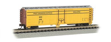Bachmann ACF 50' Steel Reefer Fruit Growers Express -- N Scale Model Train Freight Car -- #17953