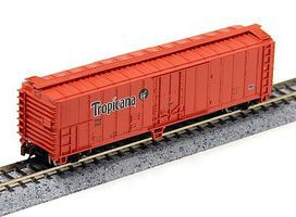 50' ACF Steel Reefer Tropicana Orange N Scale Model Train Freight Car #17956