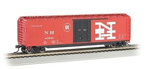 Bachmann 50 Plug Door Boxcar New Haven HO Scale Model Train Freight Car #18031