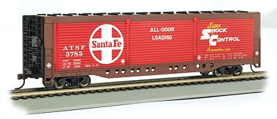 Bachmann Evans All Door Box Santa Fe #3785 -- HO Scale Model Train Freight Car -- #18140