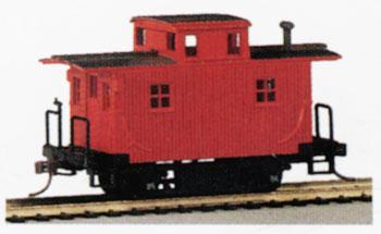 Bachmann Bobber Caboose Painted/Unlettered -- HO Scale Model Train Freight Car -- #18449