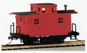 Bobber Caboose Painted/Unlettered HO Scale Model Train Freight Car #18449