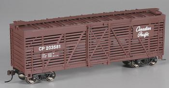 Bachmann 40' Stock Car Canadian Pacific -- HO Scale Model Train Freight Car -- #18524
