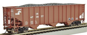 Bachmann 100 ton 3-bay Hopper Conrail HO Scale Model Train Freight Car #18708