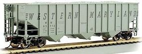 Bachmann 100 Ton 3-Bay Hopper Western Maryland #63834 HO Scale Model Train Freight Car #18737