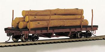 Bachmann SS ACF 40 Log Car HO Scale Model Train Freight Car #18849