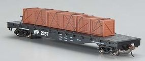 Bachmann Flatcar w/Crated Load Western Pacific HO Scale Model Train Freight Car #18932
