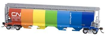 Bachmann Cylindrical Grain Hopper CN Demonstrater -- HO Scale Model Train Freight Car -- #19133