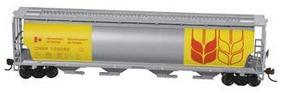 Bachmann Cylindrical Grain Hopper Govt/Canada Yellow HO Scale Model Train Freight Car #19136