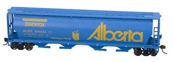 Bachmann Cylindrical Grain Hopper Alberta/Edmonton -- HO Scale Model Train Freight Car -- #19138