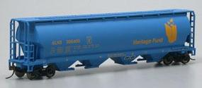 Bachmann Cylindrical 4-Bay Grain Hopper Alberta Heritage HO Scale Model Train Freight Car #19139