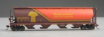 Bachmann Cylindrical Grain Hopper Saskatchewan -- HO Scale Model Train Freight Car -- #19140