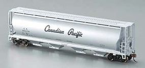 Bachmann 4-Bay Grain Hopper Canadian Pacific Silver HO Scale Model Train Freight Car #19142