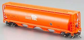 Bachmann Canadian Cylindrical 4-Bay Grain Hopper Potash Corp -- HO Scale Model Train Freight Car -- #19143