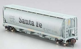 Bachmann 4-Bay Grain Hopper Santa Fe N Scale Model Train Freight Car #19152