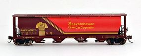 Bachmann 4 Bay Grain Hopper Saskatchewan Wheat Herald N Scale Model Train Freight Car #19153