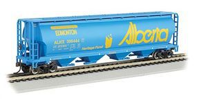 Bachmann 4-Bay Cylindrical Grain Hopper Alberta N Scale Model Train Freight Car #19155