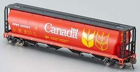 Bachmann 4-Bay Grain Hopper Canada Grain N Scale Model Train Freight Car #19181