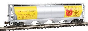 Bachmann 4-Bay Grain Hopper Government of Canada N Scale Model Train Freight Car #19184