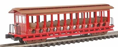 Bachmann Jackson Sharp Excursion Painted Red/Silver N Scale Model Train Freight Car #19399