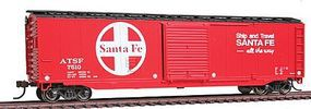 Bachmann 50 Sliding Door Box Santa Fe HO Scale Model Train Freight Car #19406