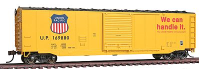 Bachmann 50' Sliding Door Box Union Pacific -- HO Scale Model Train Freight Car -- #19408