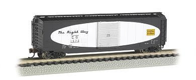 Bachmann 50' Sliding Door Box Central of Georgia -- N Scale Model Train Freight Car -- #19451