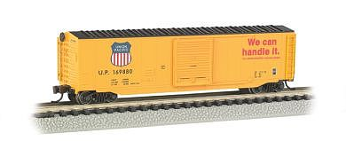 Bachmann 50' Sliding Door Box Union Pacific -- N Scale Model Train Freight Car -- #19455