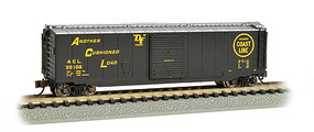 Bachmann 50 Sliding Door Boxcar Atlantic Coast Line N Scale Model Train Freight Car #19458