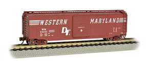 Bachmann 50 Sliding Door Boxcar Western Maryland N Scale Model Train Freight Car #19460