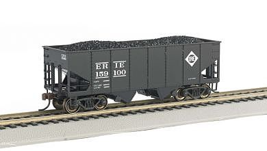 HO Scale Bachmann Industries 159100 55 Ton 2-Bay USRA Outside Braced Hopper with Removable Load Erie Car