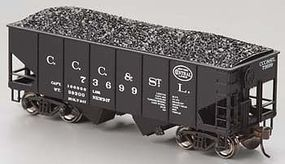Bachmann 55 Ton 2-Bay USRA Outside Hopper NYC Big Four HO Scale Model Train Freight Car #19510