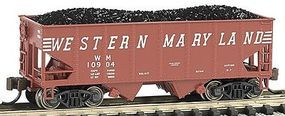 Bachmann USRA 55T 2-Bay Hopper Western Maryland N Scale Model Train Freight Car #19552