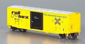 Bachmann ACF 50 6 Outside Braced Sliding Boxcar Rail Box N Scale Model Train Freight Car #19651