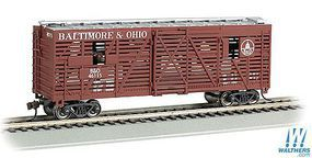 Bachmann 40 Animated Stock Car Baltimore & Ohio with Cows HO Scale Model Train Freight Car #19707