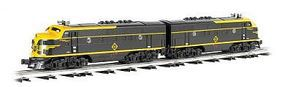 Bachmann EMD F3 A-A Set - Conventional 3-Rail Erie O Scale Model Train Diesel Locomotive #20108