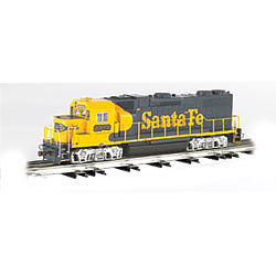 Bachmann GP-38 Santa Fe #2372 -- O Scale Model Train Diesel Locomotive -- #21225