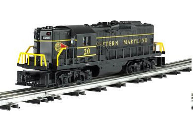 Bachmann EMD GP9 - Conventional 3-Rail Western Maryland -- O Scale Model Train Diesel Locomotive -- #21550