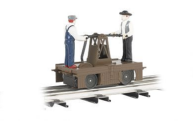 Bachmann Operating Handcar Brown -- O Scale Trolley and Hand Car -- #23802