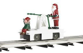 Bachmann Operating Handcar Christmas Santa/Elf O Scale Trolley and Hand Car #23803