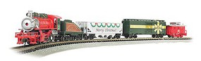 Bachmann Merry Christmas Express USRA 0-6-0, 3 Cars, E-Z Track(R) Circle, Power Pack and Instructions - N-Scale