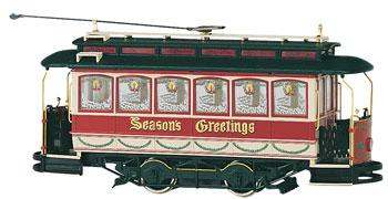 Bachmann Spec Street Car Christmas -- On30 Scale Trolley and Hand Car -- #25127