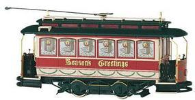 Bachmann Spec Street Car Christmas On30 Scale Trolley and Hand Car #25127